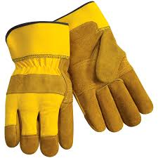 Split Cowhide Standard Split Cowhide Leather Palm Work Gloves Patched Palm