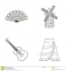 fan spanish mill guitar skirt for national spanish dances