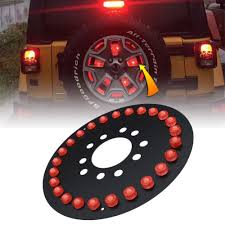 jeep lights for jeep lights spare tire wheel led 3rd third brake lamp ring for