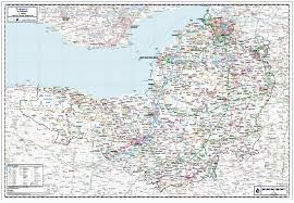 Bristol England Map by Somerset Including Bristol County Wall Map Paper Laminated Or