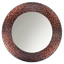 Circle Wall Mirrors Amazon Com Head West Amber Mosaic Circle Mirror 29 Inch Diameter