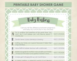 mint baby busters game baby shower baby shower games