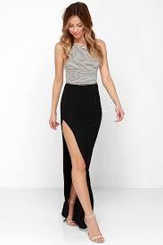 black maxi skirt with slit black skirt maxi skirt slit skirt 41 00