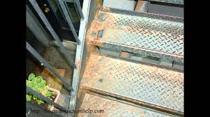 rusted metal stairs can be dangerous u2013 stairway inspection youtube