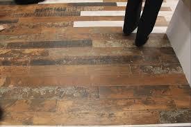 kitchen room design interior tile that looks like wood planks