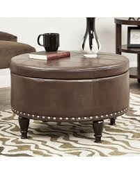 fall savings are here 46 off taylor round storage ottoman brown