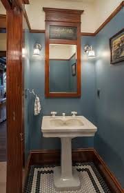 Paint Colors For Powder Room - grey paint colors powder room craftsman with white penny tile