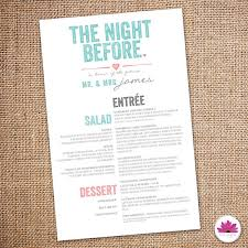 rehearsal brunch invitations the before rehearsal dinner menu digital events with