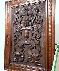 carved wood cabinet doors cabinet panel door antique french hand carved wood renaissance