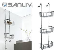 Door Shower Caddy Glass Door Basket Shower Caddy Shelf Luxury Bathroom