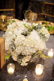 white and gold white and gold flower centerpiece