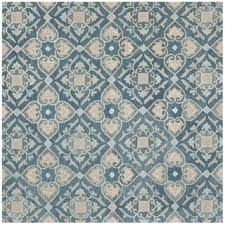 Square Wool Rug Safavieh Handmade Wyndham Blue Rust Wool Rug 7 U0027 Square Free