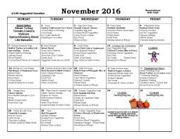thanksgiving lunch menu november lunch calendar menu edward king house