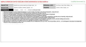 Sample Artist Resume by Airbrush Artist Resume Sample