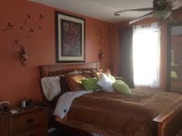 what colors go with orange walls burnt bedroom color hair best