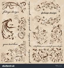set swirl ornaments your design stock vector 177850778