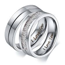 matching rings aeici his hers i you matching rings endless stainless