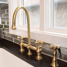 bridge faucets for kitchen kitchen faucet landing whitehaus collection