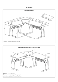 Techni Mobili Graphite Frosted Glass L Shaped Computer Desk Furniture Techni Mobili Desk Techni Mobili Graphite Frosted