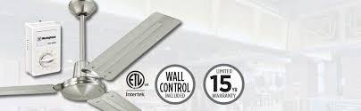 Intertek Ceiling Fan by Westinghouse 7861400 Industrial 56 Inch Three Blade Ceiling Fan