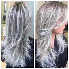 silver hair with blonde lowlights bob blonde highlights lowlights bright pieces pretty hair with long