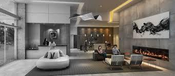 luxury apartment building lobby
