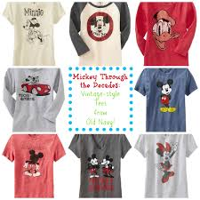 adorable disney vintage style tees from navy