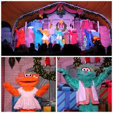 sesame street halloween party sesame place a very furry christmas the roarbotsthe roarbots