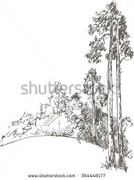 earth day card trees sketch stock vector 390476734 shutterstock