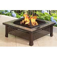 Outdoor Furniture With Fire Pit by Pleasant Hearth Bradford Steel Wood Burning Fire Pit Table