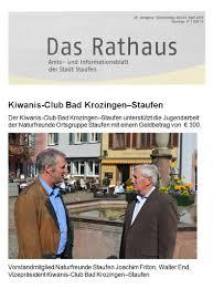 Stadt Bad Krozingen Kiwanis Club Bad Krozingen U0026 Staufen In Der Presse