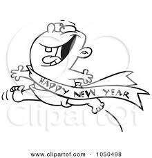 new year sash royalty free rf clip illustration of a line design of an