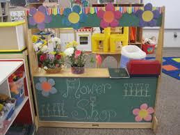 flower shop we set up during gardening theme at preschool