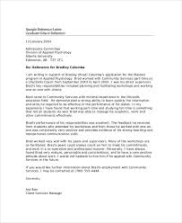 sample character reference template reference letter 11 41 free