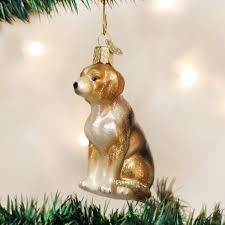 amazon com old world christmas beagle glass blown ornament home