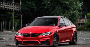 red bmw 2017 dub magazine satin red bmw m3