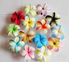 plumeria flower 2018 frangipani flower hawaiian plumeria flower foam hairbands