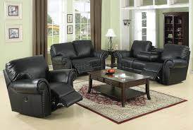 Living Room Black Leather Sofa Living Room Cool Reclining Sofa Covers And Loveseat Sets Fabric