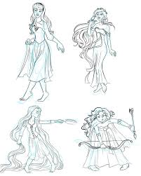 disney princess sketches by sereneimmorality on deviantart