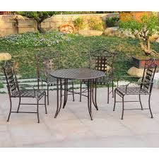 Wrought Iron Patio Tables Amazon Com International Caravan Mandalay Iron Outdoor Patio