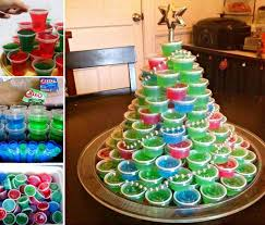 jello shot christmas tree