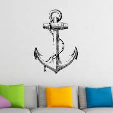 vintage anchor nautical wall sticker world of wall stickers vintage anchor nautical wall sticker decal a