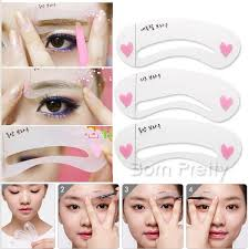 Make Up Classes Online Free 2 72 3pcs Set Brow Class Drawing Guide Eyebrow Template Plastic