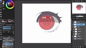 medibang paint pro desktop version how to eye color tutorial