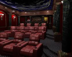 decorating ideas cool theater room decoration with cozy red brown