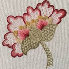 peony jacobean crewel work embroidery kit laurelin