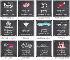 wedding chalkboard wedding chalkboard square labels or hang tags 20 pieces square