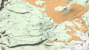 Washington State Topographic Map by Mount Washington Wilderness Robinson Lake Benson Lake Hand Lake