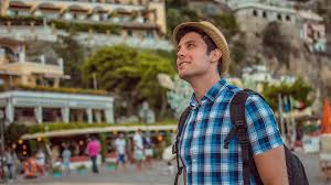 handsome young man traveling travel exploration adventure handsome young man traveling travel exploration adventure backpacking happy excited smiling relax modern lifestyle uhd 4k stock video footage videoblocks