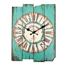 zakka vintage rustic wooden wall clock shabby home room cafe bar